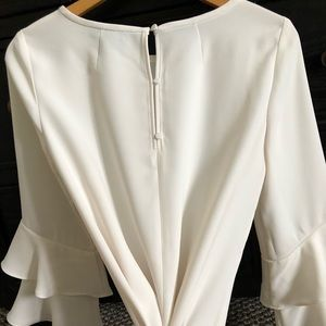 J Crew Bell-sleeve Top in Drapey Crepe - 6T Ivory